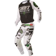 motocross gear combo shift racing 2016 strike jersey pants package black camo