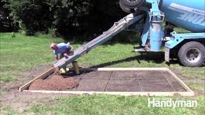concrete forms and pouring a concrete slab family handyman
