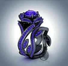 black and purple engagement rings disney s villain maleficent inspired ring set