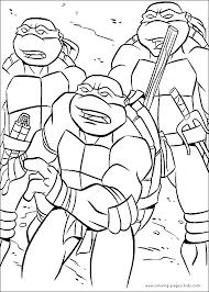 teenage mutant ninja turtles tmnt color coloring pages