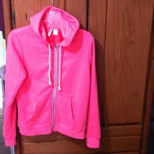 35 off h u0026m outerwear super cute rand new bright pink hoodie