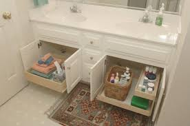 pull out baskets for bathroom cabinets remarkable vanity cabinet organizers with rectangular wicker storage