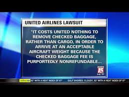 Luggage United Airlines Passenger Sues United Airlines Over Delayed Luggage Youtube