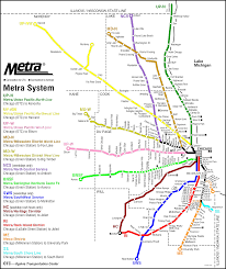 Map Chicago by Chicago Metra Map Chicago Il U2022 Mappery