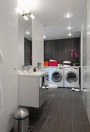 decorating small laundry room decor ideas with grey beadboard