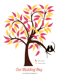 Wedding Trees Leaves Tree Template