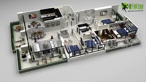 House Design With Floor Plan 3d 3dlinks 3d Art Gallery