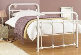elegant white wrought iron bed to match your furniture modern