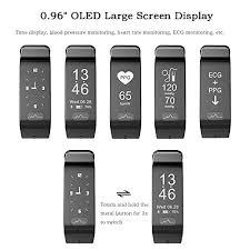 oled health bracelet images Fitness tracker smart ecg heart rate blood pressure monitor ip66 jpg