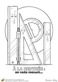 dessin à colorier d u0027une fourniture scolaire la géométrie