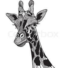 giraffe head vector animal illustration for t shirt sketch tattoo