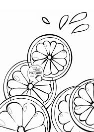 lime cross sections fruit coloring page for kids fruits
