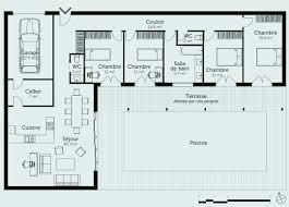 plan maison en l plain pied 3 chambres plan de maison de plain pied plan maison plain pied 4 chambres