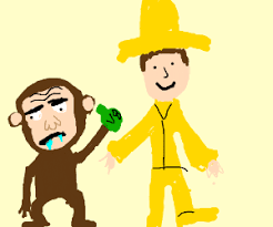 autistic curious george cosplayer drinking v8 drawing dimsim88