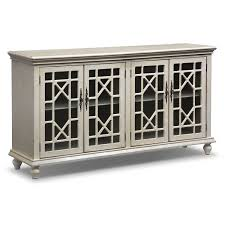 Chinese Credenza Grenoble Media Credenza Ivory Value City Furniture