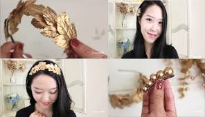 gold hair accessories diy hair accessories gold leaf headband and hair