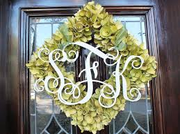 painted vine monogram painted wreath monogram painted wood