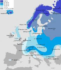 map or europe probability of a white across europe brilliant maps