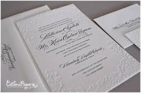 wedding invitations dallas blind deboss wedding invitation suite