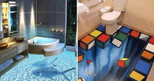 3d bathroom flooring murals on walls are great but these 3d floors transform bathrooms