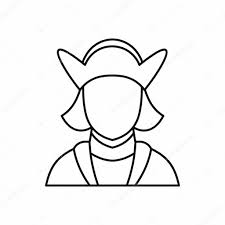 columbus discoverer of america icon outline style u2014 stock vector