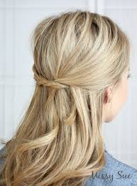 try this cute and original hairstyle the french braid tie back