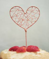 heart cake topper how to string heart cake topper american wedding wisdom