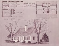 1940s cape cod floor plans mid century cape cod design no 1095 home building plan service