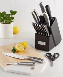 stainless steel kitchen knives set cuisinart stainless steel 17 cutlery set created for macy s