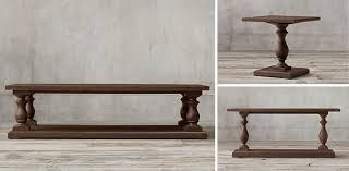 restoration hardware 17 c monastery table 17th c monastery collection brown acacia rh