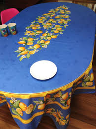 tablecloth for oval dining table coated tablecloths from provence