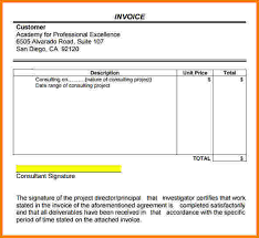 6 consultant invoice template free short paid invoice