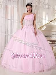 quinceanera dresses pink baby pink one shoulder quinceanera dresses with rhinestones