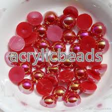 2017 fcatory wholesale ab 4mm flat back plastic faux pearl beads