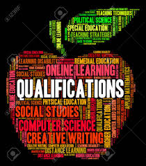 graphic design online qualification qualifications word indicating expert competent and chartered stock