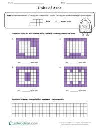 area in square units education com