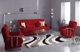 home design 8 red living room ideas with grey wall and sofa