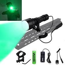 hunting lights for ar 15 amazon com vastfire green hog light single 1 mode hunting