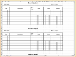 7 account ledger template excel ledger page