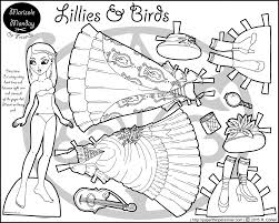 lillies u0026 birds a printable paper doll coloring page u2022 paper thin