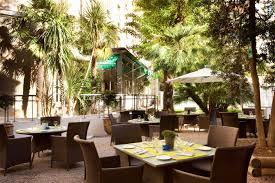 decoration terrasse restaurant oceania le metropole 4 star hotel in the centre of montpellier