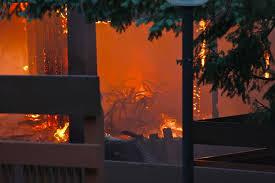 Wildfire Viewer by Fire Destroys Apartment Complex Community Center Fox8 Com
