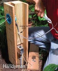 outdoor electrical box for light how to install outdoor lighting and outlet family handyman