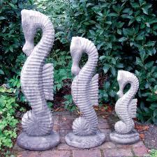 set of seahorses statues large garden ornament s s shop
