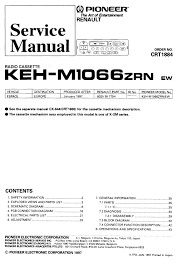 pioneer keh m1066zrn service manual pdf download