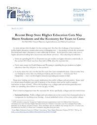 Example Of Resume For Students In College by Recent Deep State Higher Education Cuts May Harm Students And The
