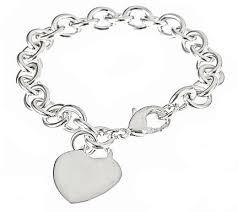heart tag charm bracelet images Sterling silver heart tag charm bracelet jpg
