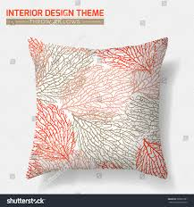 decorative throw pillow design template original stock vector
