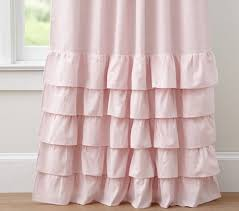 Ruffled Pink Curtains Curtain Decor Ruffled Pink Curtains Ideas Light Pink
