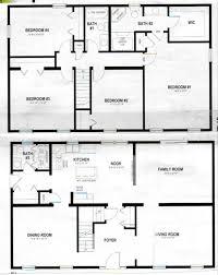 2 story house blueprints two story pole barn house plans